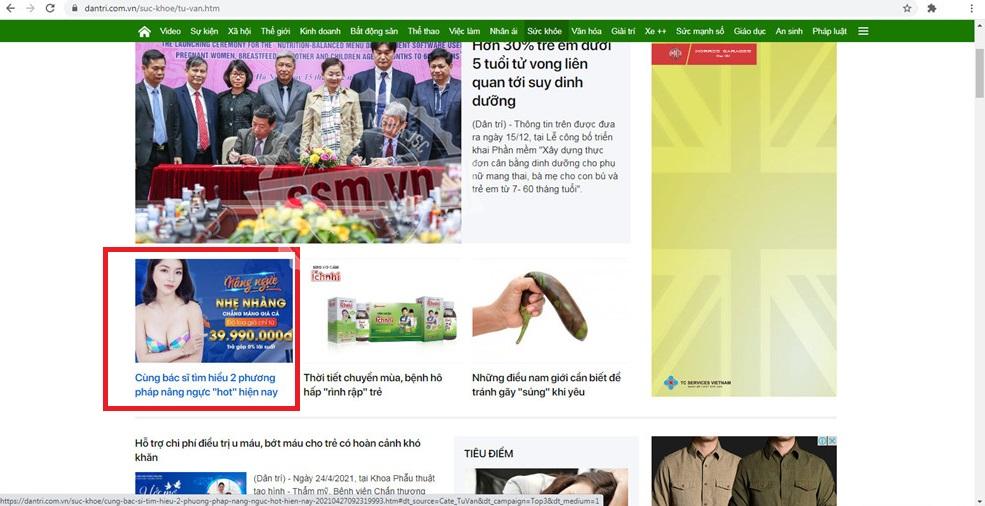TMV Gangwhoo book bài PR quảng cáo trên báo Dân trí