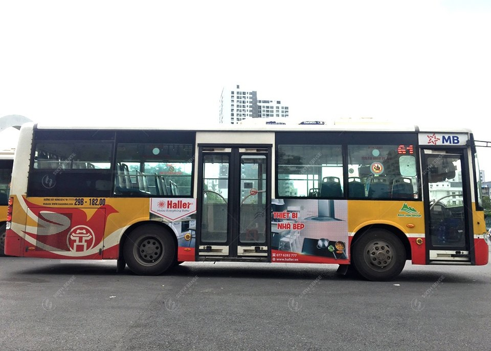Thiết bị nhà bếp Haller quảng cáo xe bus Hà Nội