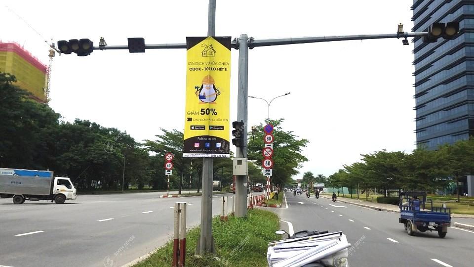 Treo băng rôn quảng cáo dịch vụ sửa chữa ION tại TPHCM